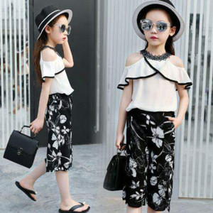 STELAN ANAK MIAO BLACK WHITE / BAJU FASHION ANAK