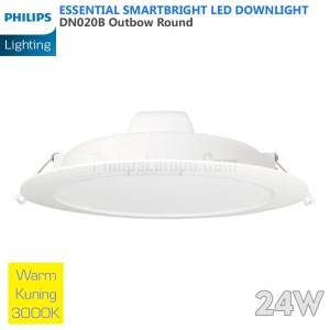 Lampu Downlight LED Philips 24W DN020B 24 W Warm White Kuning