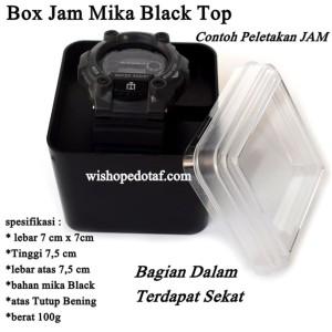 Wadah Jam tangan Mika Black Top