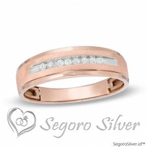 Cincin Nikah Tunangan Gold Rose Original Silver