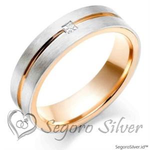 Cincin Single Cincin Perak Cincin Tunangan Gold Rose Original