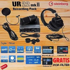 Steinberg UR22 MKII Recording Pack Paket soundcard recording