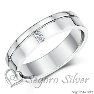 Cincin Perak Cincin Tunangan Cincin Nikah Original Murni Perak