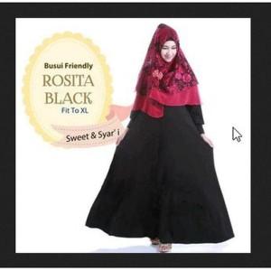 Hijab Rosita (Maxy+bergo Pad brukat prancis+busui)