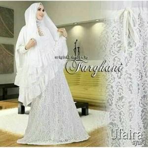 Hijab Umroh mimisai white (RECOMENDED)