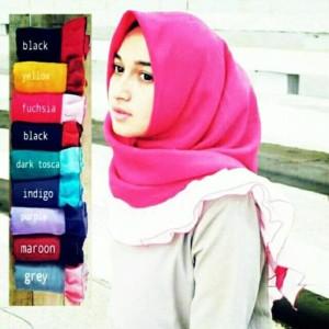 Hijab segiempat/Jilbab/kerudung Rempel Twotone VALENCIA