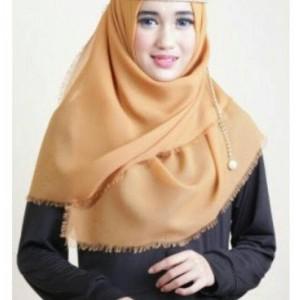 Hijab segiempat/Jilbab/kerudung Rawis saudia VALENCIA Caramel editio
