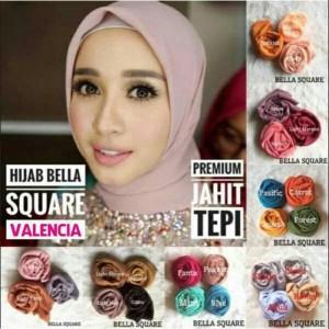 Hijab segiempat/Jilbab/kerudung Bella Square VALENCIA (DOUBLE HYCONE