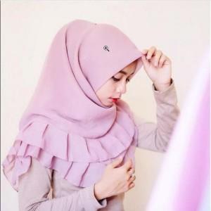 Hijab segiempat Rempel Polos VALENCIA