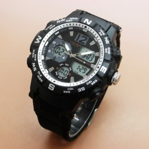 JAM TANGAN PRIA FORTUNER ORIGINAL TAHAN AIR BLACK WHITE
