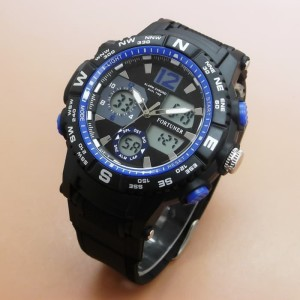 JAM TANGAN PRIA FORTUNER ORIGINAL TAHAN AIR BLACK BLUE