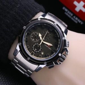 Jam Tangan Pria Swiss-Army-Chrono-WindMill-Silver