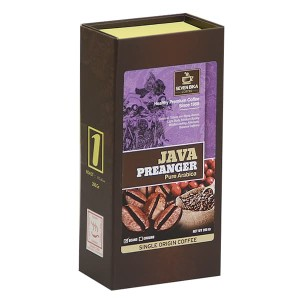 SEVEN BIKA COFFEE JAVA PREANGLER PURE ARABIKA BOX 200 gr (BUBUK/BIJI)