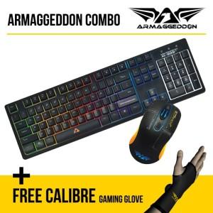 Armaggeddon Keyboard AK-999 SFX & Scorpion 3 Combo Free Calibre Glove