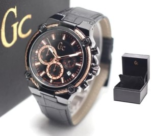 JAM TANGAN PRIA GC KULIT CHRONO ACTIVE BLACKK