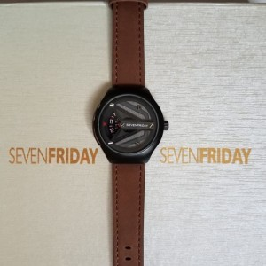 JAM TANGAN PRIA 7FRIDAY KULIT NEW BROWN COVER GREY