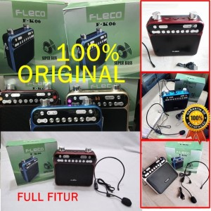 100% ORIGINAL Fleco F K06 Bluetooth Mic Headset Speaker Portable