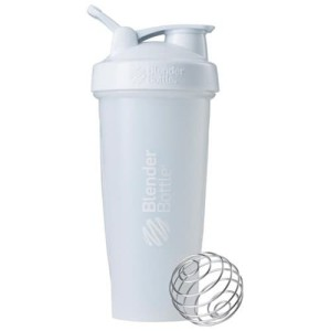Classic Shaker Fitness| Botol | Gym | Olahraga White 28Oz
