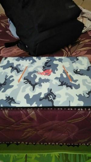 Garskin Laptop Asus ROG GL553VD Full Body Motif Camo - Free Custom