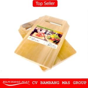 PROMO Telenan Kayu Wood Cutting Board - Talenan Tatakan Alas Pengiris