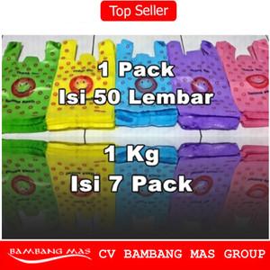 Plastik Kemasan Kresek SMILE ukuran 24cmx38cm packing online shop