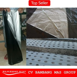 Plastik Mulsa Hitam Perak Lebar 120cm tebal 0.03mm