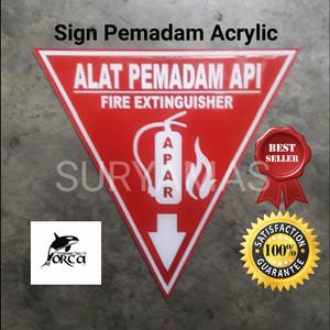 sign PEMADAM API/tanda APAR/Rambu APAR/Akrilik pemadam