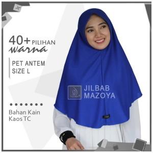 Jilbab Instan Pet Antem L / Hijab Kaos Bergo Anthem Size L