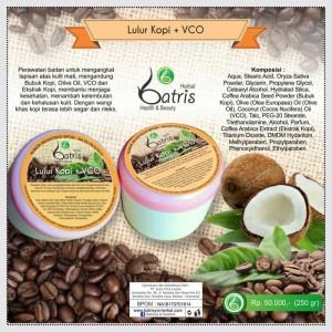 Lulur Kopi Batrisyia/Coffee Body Scrub Batrisyia Pemutih Badan
