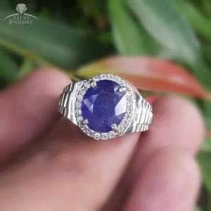 Jual Cincin Perak Cowok Batu Blue Saphier Kota Tangerang Sprei