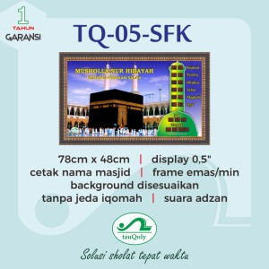 JAM DIGITAL MASJID TAUQOLY TYPE TQ 05 SFK
