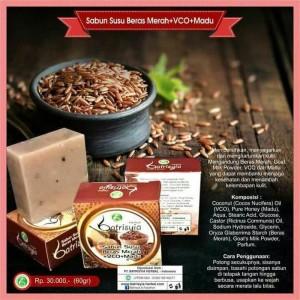 Sabun VCO Beras Merah+Madu+Susu Batrisyia Herbal Skincare