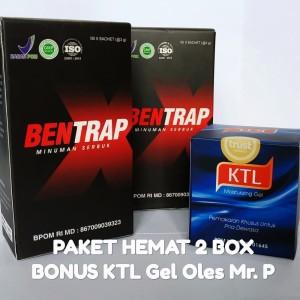 PAKET Hemat 2 BOX BENTRAP + Bonus KTL Gel Oles Pembesar