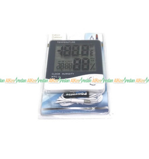 THERMOMETER HYGRO TEMPERATUR CLOCK HUMIDITY HTC-2 ORIGINAL HYGROMETER