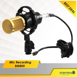 Microphone Condenser High Quality Mic Recording BM800 for Laptop PC