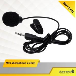 Mini Microphone 3.5mm Mic for smartphone Laptop/PC Murah