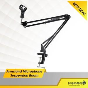 Stand Mic Microphone Suspension Boom Scissor Arm Stand Stand Mic Murah