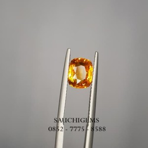 SG-024 TOP QUALITY SPARKLING SRILANGKA NATURAL ORANGE SAPPHIRE+CERTI