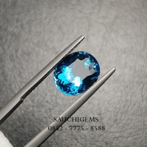 SG-014 TOP SUPER BRILLIANT LUSTER ELECTRIC BLUE TOPAZ 3,80CT