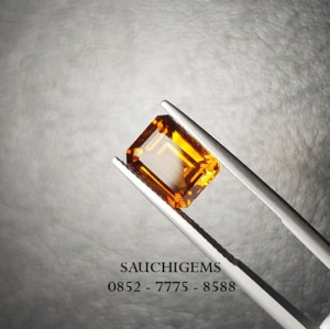 SG-012 SUPERIOR TOP OCTAGON CUT VVS MADEIRA CITRINE 3.26CT