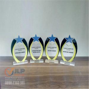 Fabriksnye Jual Plakat Piala Piagam Plakat Akrilik Tropi Trophy UK. 20cm x FR-36
