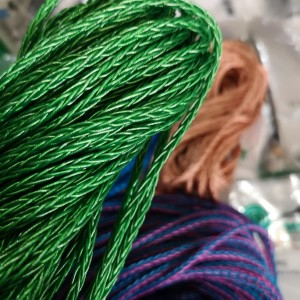 Green Silicon wire 1ft