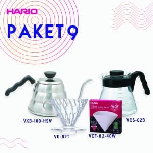 Hario Paket Manual Brewing (VKB-100HSV, VCS-02B, VD-02T, VCF-02-40W)