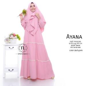 Busana Muslim 1 set warna Pink
