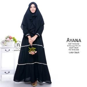 Busana Muslim 1 set warna hitam