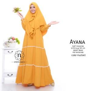 Baju Muslim setelan 1 set warna kuning