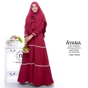 busana muslim wanita Warna Merah