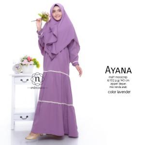 Busana Muslim Wanita Warna Lavender