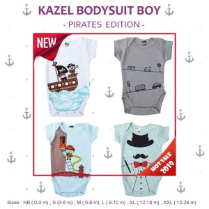 KAZEL BODYSUIT JUMPER BAYI MOTIF PIRATES EDITION 4IN1