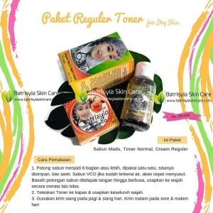 Paket Batrisyia Reguler Toner/Perawatan Kulit Kering Batrisyia Herbal